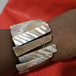 Ladies Marble Link Bracelet